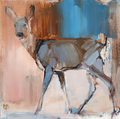 Doe A Deer Print by Mark Adlington