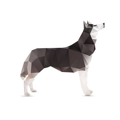 Dog Abstract Original by Passakorn Vejchayachai