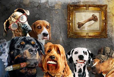 Purebred Digital Art - Dog Day Reunion by Davina Washington