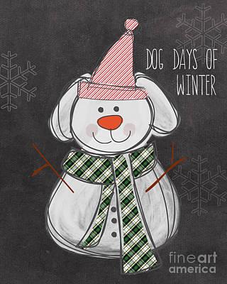Christmas Mixed Media - Dog Days  by Linda Woods