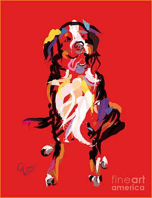 Colorful Art Digital Art - Dog Iggy by Go Van Kampen