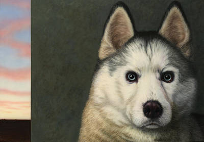Husky Painting - Dog-nature 9 by James W Johnson