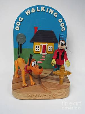 Czappa Painting - Dog Walking Dog by Bill Czappa