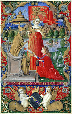 Doge Marco Barbarigo Print by British Library