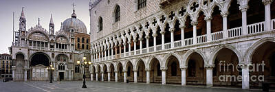 Doge's Palace And Basilica San Marco Print by Rod McLean