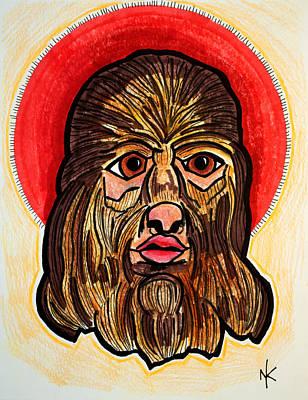 Freak Show Drawing - Dogface Boy by Nicole Kaspereen