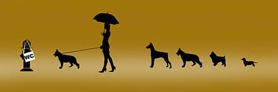 Doggie Queue Print by Peter Stevenson