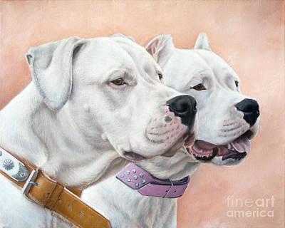 Dogs Painting - Dogo Argentino by Tobiasz Stefaniak