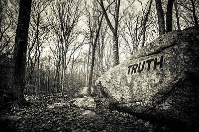 Essex Photograph - Dogtown Rocks With Inspirational Word by Panoramic Images