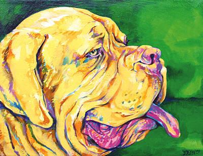 Pooch Painting - Dogue De Bordeaux by Derrick Higgins