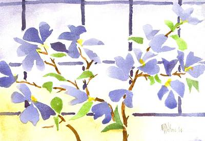 Impressionistic Landscape Painting - Dogwood In The Window by Kip DeVore