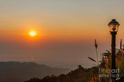 Doi Tung Sunset Print by Adrian Evans