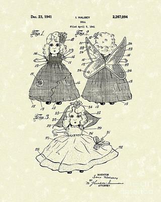 Doll 1941 Patent Art Print by Prior Art Design