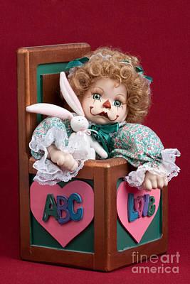Doll Clown In Box Print by Cindy Singleton