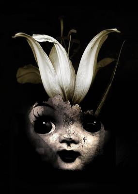 Weird Digital Art - Doll Flower by Johan Lilja
