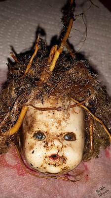 Doll Head Original by Ally  White
