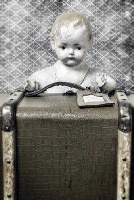 Doll In Suitcase Print by Joana Kruse