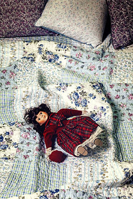 Doll On Bed Print by Joana Kruse
