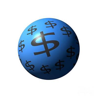 Dollar Sphere Print by Henrik Lehnerer