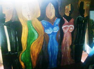 Basilio Painting - Dolls by Vickie Meza