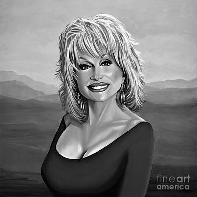 Dolly Parton 2 Print by Meijering Manupix