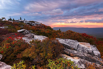 Dolly Sods October Sunrise Print by Joseph Rossbach