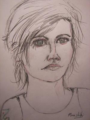 Alternative Rock Band Drawing - Dolores O'riordan by Mark Nicks