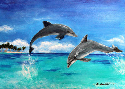 Dolphin Dance Original by Amy Scholten