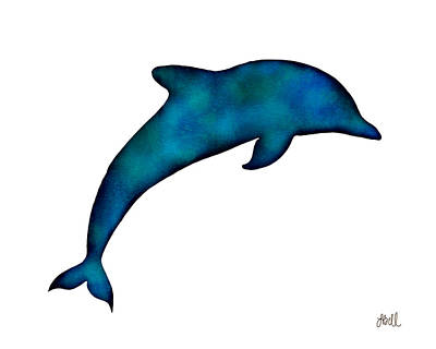 Tropical Painting - Dolphin by Laura Bell