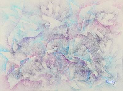 Dolphins At Play Print by Veronica Rickard