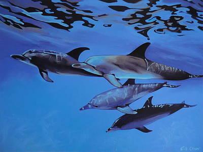 Dolphins Original by Elisabeth Olver