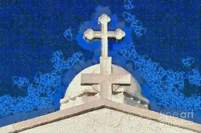 Georgio Painting - Dome Of Agios Georgios Chapel by George Atsametakis