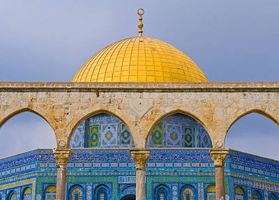 Dome Of The Rock Print by Kobby Dagan