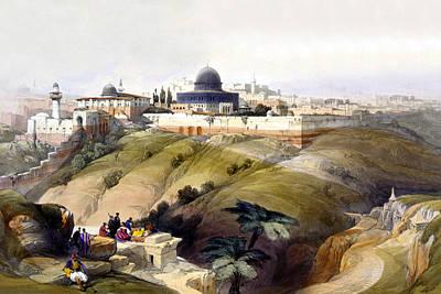 Holyland Digital Art - Dome Of The Rock by Munir Alawi