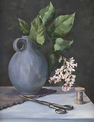 Old Vase Painting - Domestic Still Life by Natasha Denger