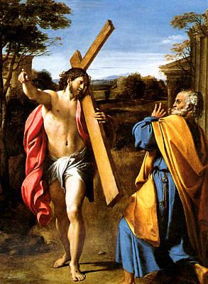 Jesus Christ Digital Art - Domine Quo Vadis by Annibale Carracci