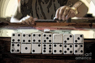 Latin Photograph - Domino Player by Luis Velez
