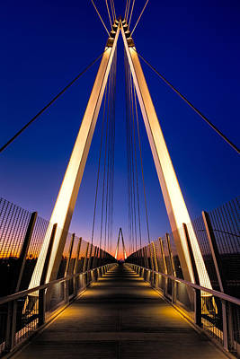 Suspension Photograph - Don Burnett Pedestrian And Bicycle Bridge by Alexis Birkill