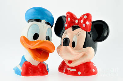Statue Painting - Donald Duck And Daisy Duck by George Atsametakis