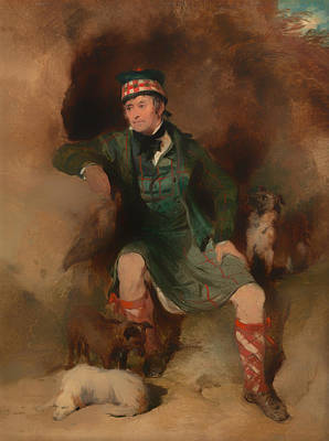 Scottish Dog Painting - Donald Mcintyre by Mountain Dreams