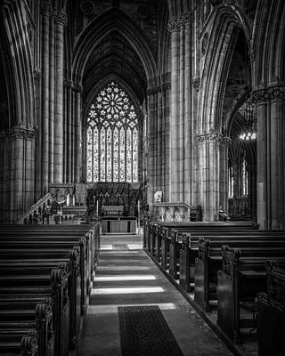 Doncaster Minster East Nave Print by Ian Barber