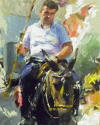 Donkey Ride Print by Yury Malkov