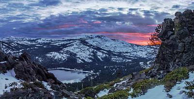 Winter Sunset Photograph - Donner Summit by Jeremy Jensen