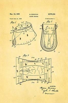 Donovan Disposable Diaper Patent Art 1951 Print by Ian Monk
