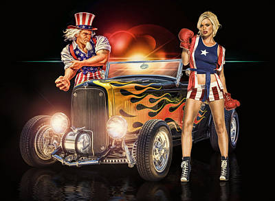 4th July Digital Art - Don't Mess With The Usa .... by Rat Rod Studios
