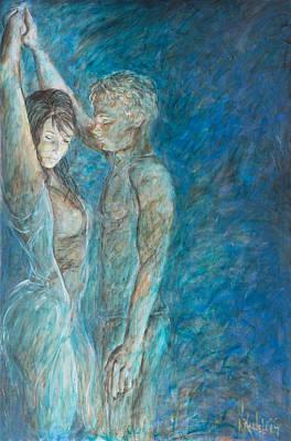 Lovers Painting - Don't Speak - Lovers by Nik Helbig