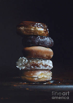 Donuts Painting - Donut Tower No.3 by Larry Preston