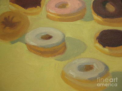 Donuts Print by Sharon Hollander
