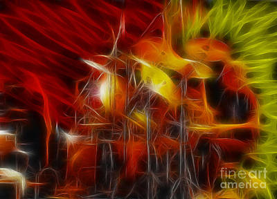 Concert Photograph - Doobies-93-keith-gg4-fractal by Gary Gingrich Galleries