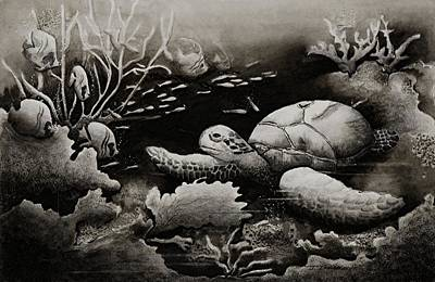 Joy Dinardo Bradley Dinardo Designs Painting - Doomed Sea Life by Joy Bradley